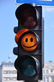 Happy traffic light — Stock Photo