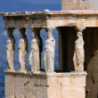 Erecthion temple on acropolis in athens — Stockfoto