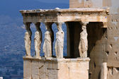 Erecthion temple on acropolis in athens — Stock Photo