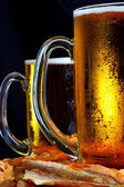 Beer mug on the table — Stock Photo