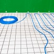 Under floor heating - Stock Photo