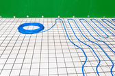 Under floor heating — Stock Photo