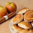 Cinnamon Buns with Apples — Stock Photo