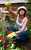 Female Gardening — Stock Photo