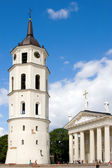 Vilnius Cathedral and Belfry Tower — Stock Photo