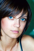 Woman with Blue Eyes — Stock Photo