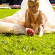 Stock Photo: Sitting Bride