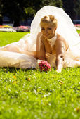 Sitting Bride — Stock Photo