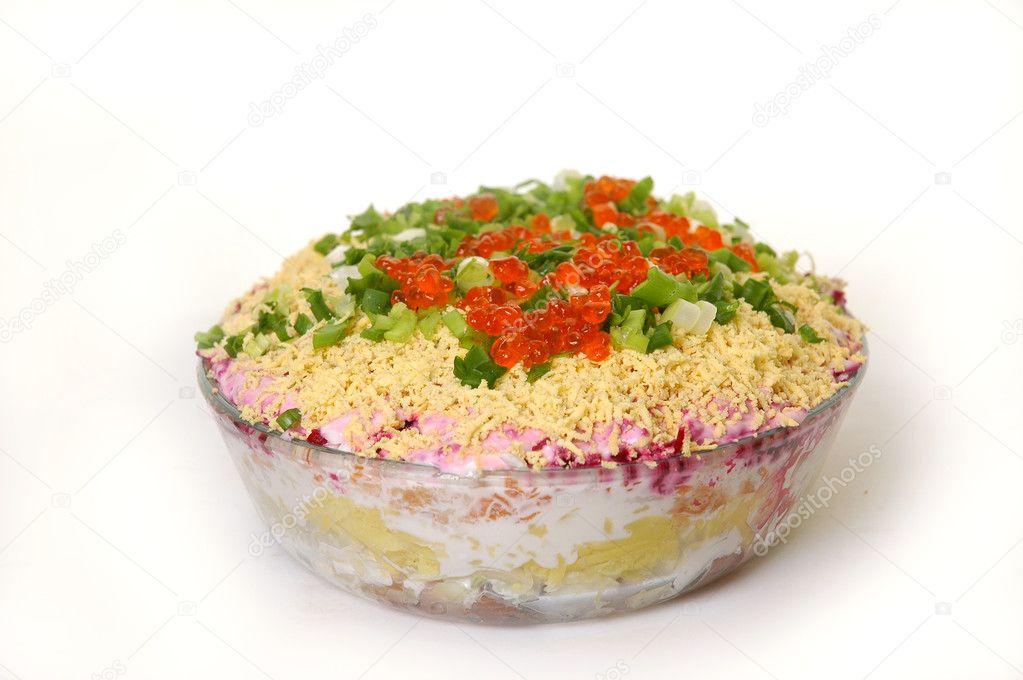 Салат мимоза с печенью классический рецепт с