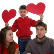 Stock Photo: Family with heart