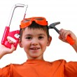Boy and tools — Stock Photo