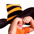 Halloween striped cap — Stock Photo