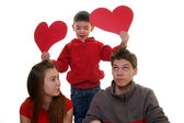 Family with heart — Stock Photo