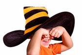 Halloween striped cap — Stock Photo
