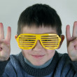 Boy and glasses — Stock Photo