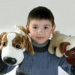 Boy and toys — Stock Photo