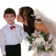 Stock Photo: Bride and boy