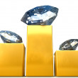 Royalty-Free Stock Photo: Diamonds on pedistal