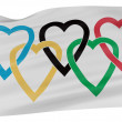 Flag of love - Stock Photo