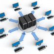 Computer Network - Stockfoto