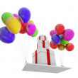 Royalty-Free Stock Photo: Gifts on COLOR balloons.