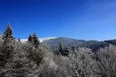 Snow mountains landscape — Stock Photo