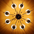 Luxury chandelier - Stock Photo