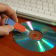 Stock Photo: Erase CD