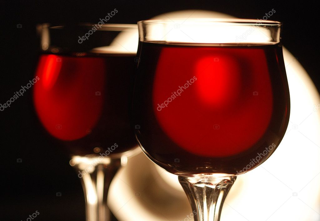 Wine glasses and wine  — Stock Photo #1856819