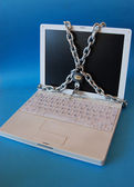 Chain and computer — Stock Photo