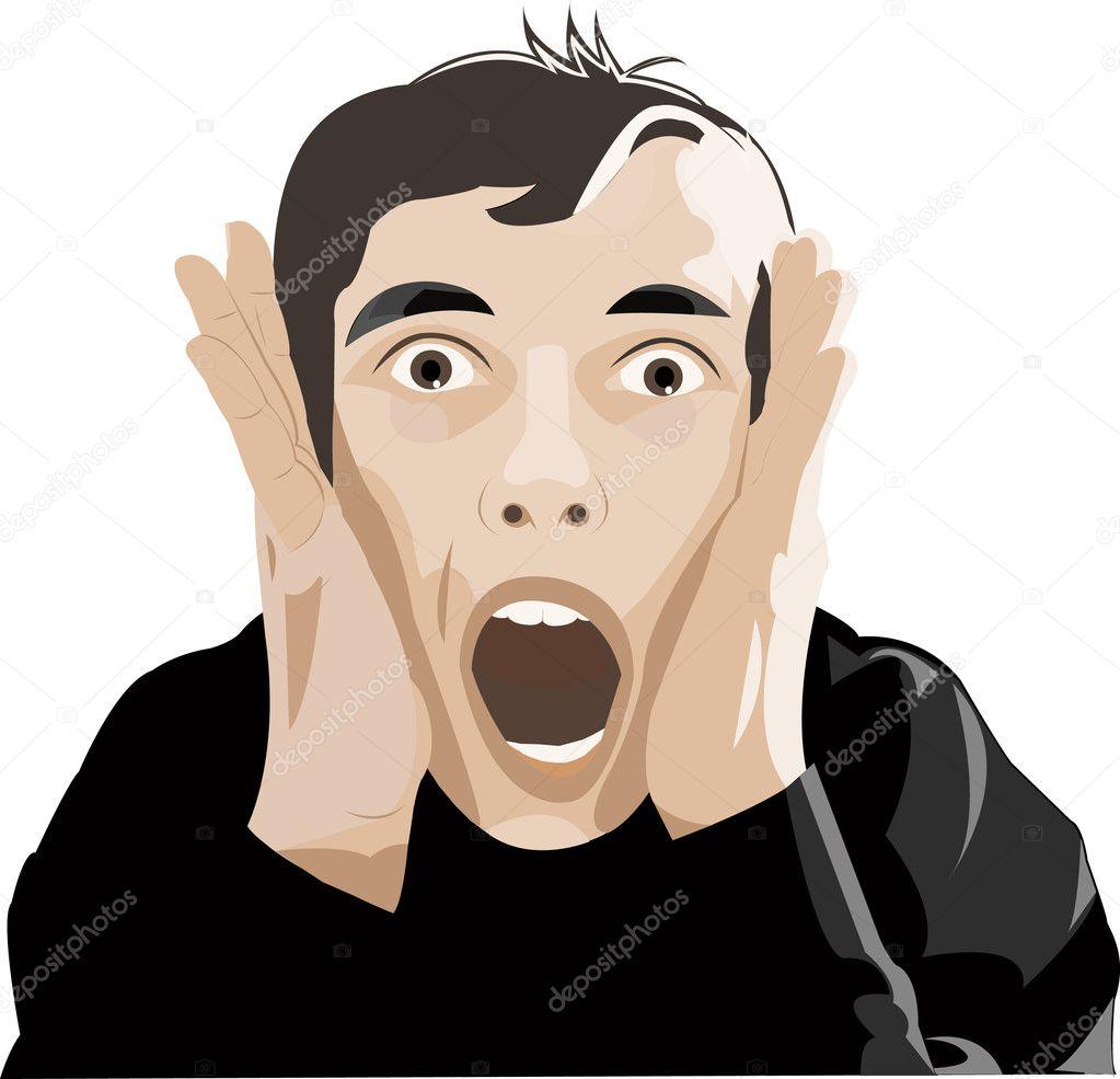 Man Screaming - Stock ...