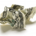Crumpled american money — Stock Photo