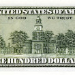 One hundred dollar bill back - Stok fotoraf