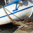 Moored boat detail — Stock Photo