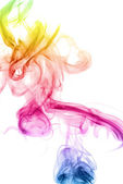 Colorful Rainbow Smoke Dragon — Stock Photo