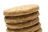 Biscuit stack — Stock Photo