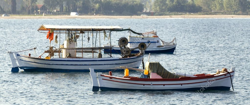 Three fishing boats — Stock Photo #1809413