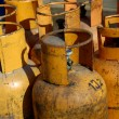 Stock Photo: Gas cylinders