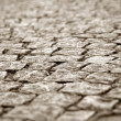 Cobblestone way — Stock Photo