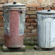 Two Old Trash Cans — Stock Photo