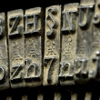 Stock Photo: Old typewriter machine close-up