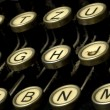 Dusty typewriter machine detail — Stock Photo