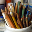 Old Colored pencils — ストック写真
