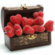 Royalty-Free Stock Photo: Hearts in the box