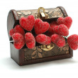 Stock Photo: Red hearts in the box