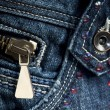 Stock Photo: Blue Denim Jeans with zipper