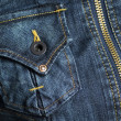 Jeans, Pocket, Button and Zipper — Stock Photo #1855114