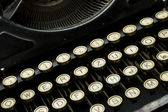 Closeup of old dusty typewriter machine — Stock Photo