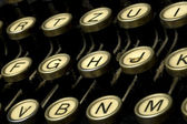 Dusty typewriter machine detail — Stockfoto