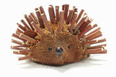 Hedgehog made from branch — Stock Photo